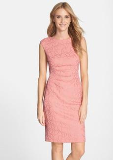 Ellen Tracy 'Gilded' Knit Sheath Dress