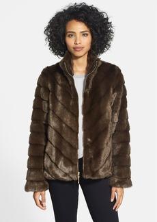 Ellen Tracy Grooved Faux Mink Jacket (Online Only)