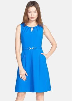 Ellen Tracy Hardware Embellished Fit & Flare Dress