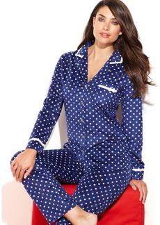 Ellen Tracy Holiday Fleece Top and Pajama Pants Set