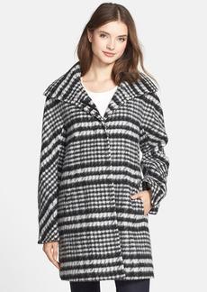 Ellen Tracy Houndstooth Pattern Wool Blend Coat (Regular & Petite) (Nordstrom Exclusive)