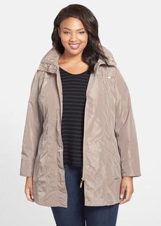 Ellen Tracy Iridescent Packable Raincoat (Plus Size)