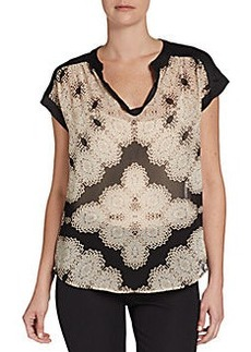 Ellen Tracy Kaleidoscope Print Top