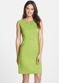 Ellen Tracy 'Kenya' Embellished Woven Sheath Dress (Petite)