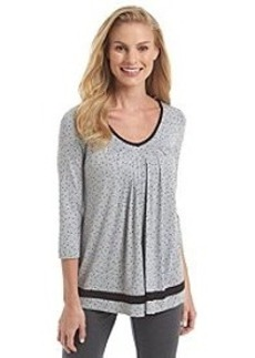 Ellen Tracy® Knit 3/4 Sleeve Top - Grey Dot
