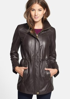 Ellen Tracy Lambskin Leather Anorak