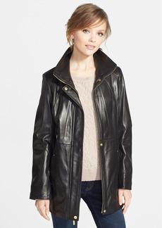 Ellen Tracy Lambskin Leather Anorak