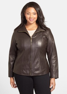 Ellen Tracy Leather Scuba Jacket (Plus Size)