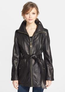 Ellen Tracy Leather Trench Jacket (Regular & Petite)