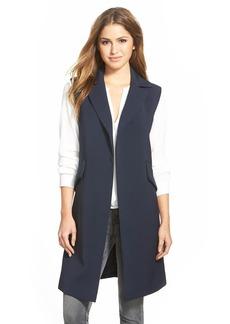 Ellen Tracy Long Sleeveless Jacket (Regular & Petite)