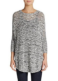 Ellen Tracy Marled Cotton Pullover