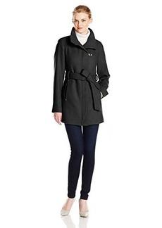 Ellen Tracy Outerwear Women's Belted Wool Coat