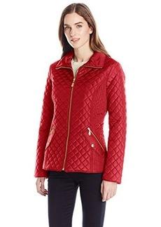 Ellen Tracy Outerwear Women's Classic Zip Front Quilted Jacket
