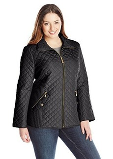 Ellen Tracy Outerwear Women's Plus-Size Classic Zip Front Quilted Jacket