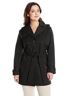 Ellen Tracy Outerwear Women's Plus-Size Single Breasted Classic Trench Coat