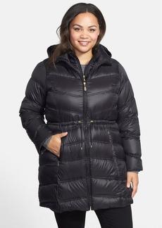 Ellen Tracy Packable Down Anorak in Inset Bib (Plus Size)