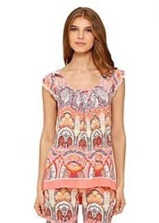 Ellen Tracy® Paisley Print Short Sleeve Top