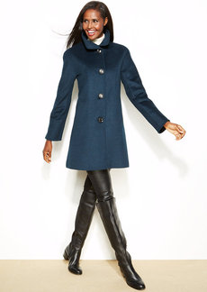 Ellen Tracy Petite Wool-Blend A-Line Walker Coat