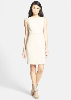 Ellen Tracy Piped Seam Detail Sheath Dress (Regular & Petite)