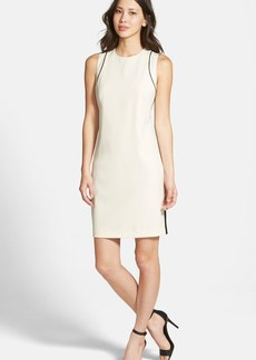 Ellen Tracy Piped Sheath Dress (Regular & Petite)