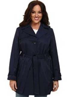 Ellen Tracy Plus Size Belted Trench