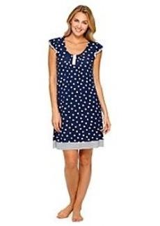 Ellen Tracy® Polka Dot Short Sleeve Knit Chemise