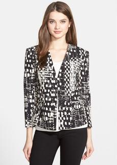 Ellen Tracy Print Double Crepe Jacket (Regular & Petite)