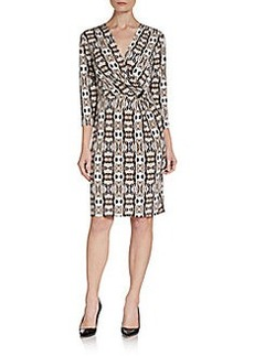 Ellen Tracy Print Jersey Dress