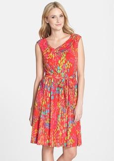Ellen Tracy Print Jersey Fit & Flare Dress (Regular & Petite)