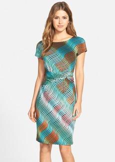 Ellen Tracy Print Jersey Sheath Dress (Regular & Petite)