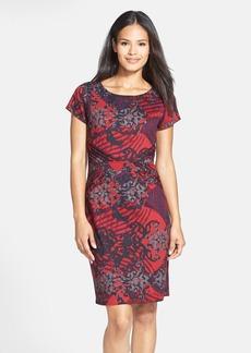 Ellen Tracy Print Ponte Sheath Dress