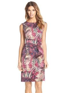 Ellen Tracy Print Toledo Sheath Dress