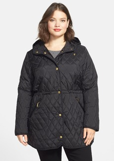 Ellen Tracy Quilted Anorak (Plus Size)