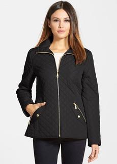 Ellen Tracy Quilted Front Zip Jacket