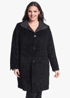 Ellen Tracy Reversible Faux Persian Fur Coat (Plus Size) (Nordstrom Exclusive)