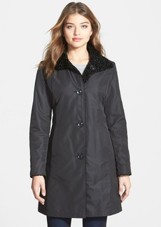 Ellen Tracy Reversible Faux Persian Lamb Fur Storm Coat