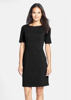 Ellen Tracy Seam Detail Ponte Sheath Dress (Regular & Petite)