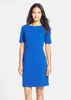 Ellen Tracy Seam Detail Ponte Sheath Dress (Regular & Petite)