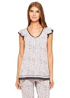 Ellen Tracy® Short Sleeve Pajama Top - Heart Leopard
