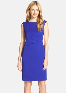 Ellen Tracy Side Pleat Sheath Dress