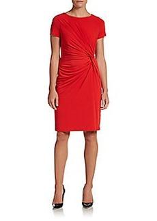 Ellen Tracy Side Twist Knit Dress