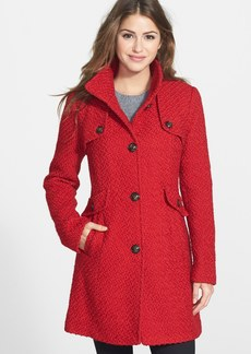 Ellen Tracy Single Breasted Bouclé Coat (Online Only)