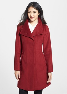 Ellen Tracy Single Breasted Wool Blend Walking Coat (Regular & Petite)