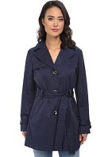 Ellen Tracy Single Button Belted Trench