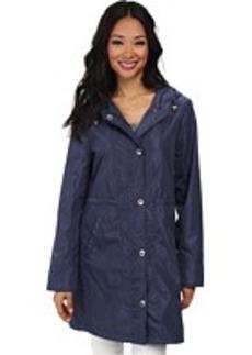 Ellen Tracy Snap Front Packable Rain Anorak