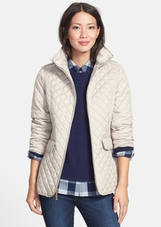 Ellen Tracy Stand Collar Quilted Jacket (Online Only)