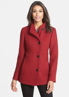 Ellen Tracy Stand Collar Wool Blend Coat (Regular & Petite) (Online Only)
