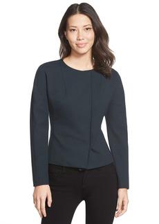 Ellen Tracy Stretch Knit Peplum Jacket (Regular & Petite)