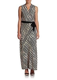 Ellen Tracy Striped Maxi Dress