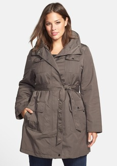 Ellen Tracy Techno Trench Raincoat (Plus Size)